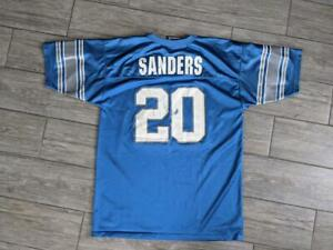 1990s vintage BARRY SANDERS detroit lions BOYS XL football jersey LOGO ATHLETIC