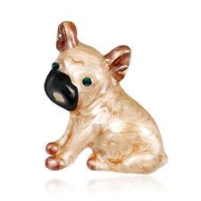 Lapel Pin Women Gift Fashion Jewelry Alloy Rhinestone Dog Animal Design Brooch