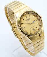 Citizen Quartz Man`s Day Date Gold  Stainless Steel Gold Dial Analog Watch 133M