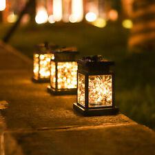 Led Solar Lantern Hanging Light Waterproof Yard outdoor Patio Garden Lamp Decor