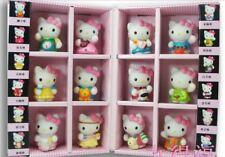 12pcs/set Hello Kitty PVC Horoscope Toy Doll