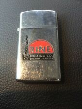 Vintage 1970 RINE DRILLING CO. Gas And Oil Rare Advertising Zippo Lighter