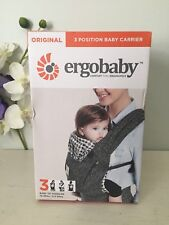 Ergobaby Ergo Baby Carrier Original 3 Position Black/Twill PatterAuthentic . New