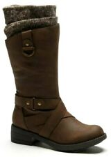 New Womens Rocket Dog Telsa Knitted Boots Brown Size UK 5 RRP£90