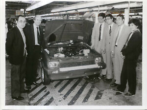Austin Rover Metro original b&w Factory Press Photo No. 10237/4 Longbridge