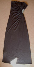 New 12 New Look Glitter Stretch Bandeau Maxi Dress with Crystal bead Open side