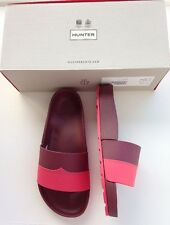 Hunter Damson & Watermelon Molded Flip Flops Size 5