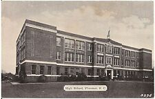 High School in Florence SC Postcard