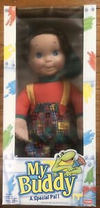 "1993 VINTAGE 22"" MY BUDDY DOLL""A Special PAL"" • PLAYSKOOL-NOS"