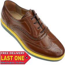 H By Hudson Elwin Mens Leather Brogue Hi Shine Shoes Size Uk 8