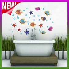 Fish Wall Stickers Decal Animal Sea Ocean Starfish Water Nursery Kids Room Art