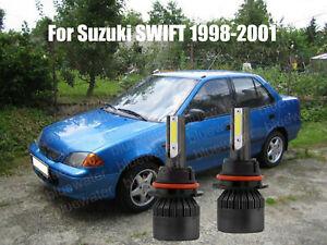 LED For SWIFT 1998-2001 Headlight Kit 9007 HB5 6000K White Bulbs High-Low Beam