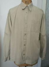 FULL CIRCLE safari beige travel jacket shirt adjustable long short sleeves M L