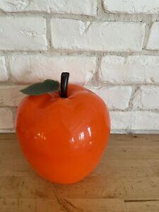 VINTAGE 70 Seau à Glaçons Pomme ORANGE Icebuket Déco Rétro Collection