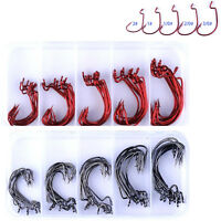 50pcs/box Wide Gap Wurmhaken Jig Fishing Crank Hooks Bass Hook für Gummiköder