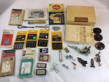 ** Large lot Vintage Misc Sewing Machine Parts Attachments Singer Case Needles