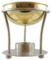 Large Metal Brass Traditional Oil Burner for Essential & Fragrance Oils