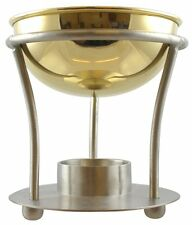 Large Metal Brass Traditional Oil Burner for Essential & Fragrance Oils