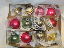 12 SHINY BRITE VINTAGE CHRISTMAS ORNAMENTS GLASS UFO TOP ORNAMENT PINK UFO ZE