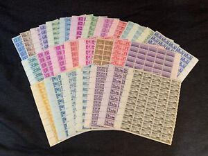 HUGE LOT 27 U.S. Stamp Sheets Scott#956-996 Range All MNH OG Gem