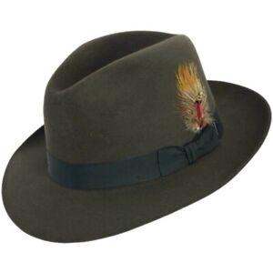 Stetson Sutley Fur Felt Fedora Hat Graphite Gray Size 6 3/4