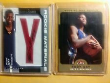 200607 Rudy Gay (2) RC Lot Auto Letter Patch, Both SP. Spurs