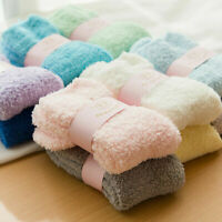6 Pairs Ladies Girls Winter Warm Soft Fluffy Bed Sock Lounge Slipper Fleece Sock
