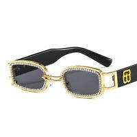 Trending 2021 Punk Sunglasses Women Fashion Hand-made Rhinestone Shades UV400