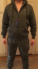 Armani Jeans Tracksuit, Zip Up Hoodie, Charcoal, NWT,  2XL