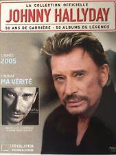 Johnny Hallyday La collection officielle Livre CD Ma vérité
