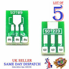 5x DIY SOT89 to DIP SOT223 Board Converter PCB Adapter Pitch Pin 2.54mm