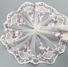 1 Yard handmade mesh embroidery flower lace trim wedding dress accessories 180MM