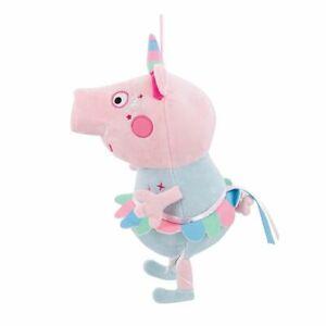 "Large Peppa Pig Plush Licensed Stuffed Animal Toy 12"" Unicorn NEW"