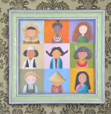 Wall Painting Picture Canvas Wooden Frame Art Modern Design - Women