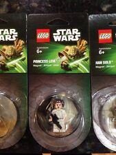 Lego Star Wars PRINCESS LEIA & HAN SOLO Minifigure / Magnet (mini Fig)