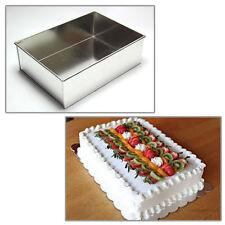 """Single Rectangle 8"""" Wedding Birthday Christmas cake tins - cake pans"""