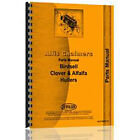 Parts Manual Fits Allis Chalmers Clover Thresher (Alfalfa & Clover Huller)