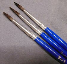 Vintage New Artist Paint Brushes B Of E N.Y.C. Delta Set Of 3