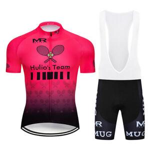 Mens Cycling Jersey & Bib Short Set Cycling Jersey Short Sleeve Bike Bibs Shorts