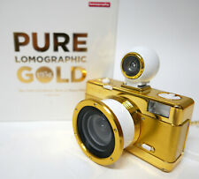 Pure Lomographic Gold Fisheye 35mm Camera Built in Flash Ultra Wide Angle Views