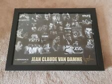 More details for jean claude van damme jcvd hand signed large poster montage glassframe very rare