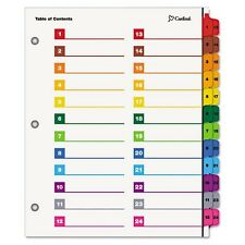 Cardinal OneStep Printable Table of Contents & Dividers - 60990