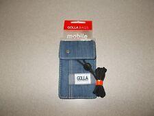 Phone carry storage case Golla Bags blue denim Berlin G1199 new