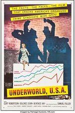 UNDERWORLD U.S.A original press kit CLIFF ROBERTSON CRIME NOIR THRILLER