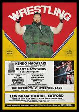 Kendo Nagasaki Giant Haystacks Wrestling Repro POSTER Catford