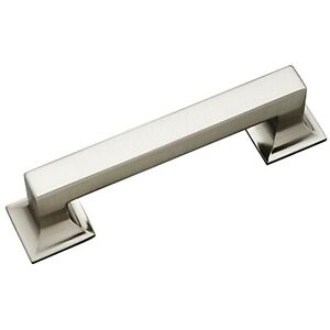 """Stainless Steel Hickory P3011-SS Studio Cabinet Pull Square Drawer Handle 3.75"""""""