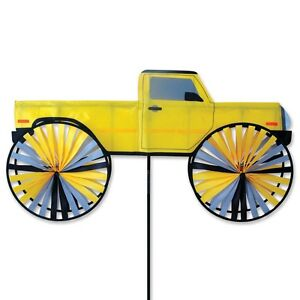 Yellow Sport Pick-up Staked Wind Spinner With Pole Ground Mount..35.... PR 25948