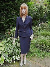 Kostüm Designer Paris Daquin Gr. 36 dunkelblau edel Zierstichnähte handgearbeite