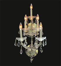"""New DECORATIVE Crystal Gold WALL SCONCE 5-Light (W12"""" x H25"""" x E11.5"""") 35% OFF"""
