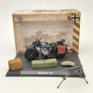 BMW R75 Motorcycle World War II 1939-1945 Black 1/24 Diecast Model Collection